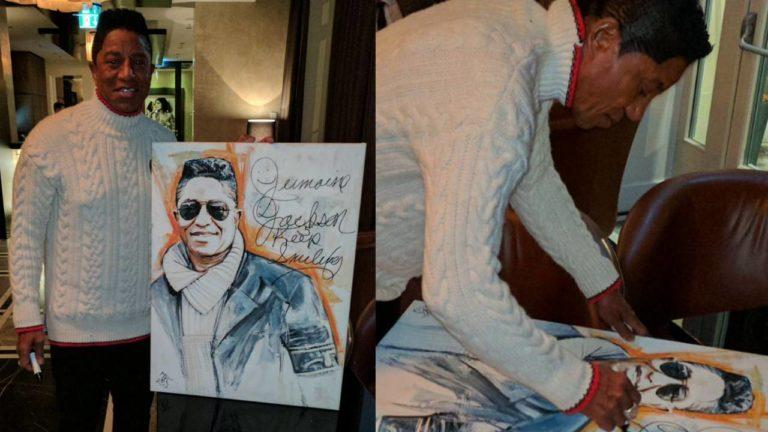"""Jermaine Jackson hat """"sein"""" Porträt persönlich signiert"""