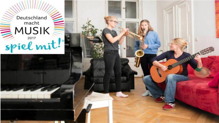 """Am 17. Juni 2017 startet deutschlandweit erneut der Aktionstag """"Deutschland macht Musik – spiel mit!"""""""