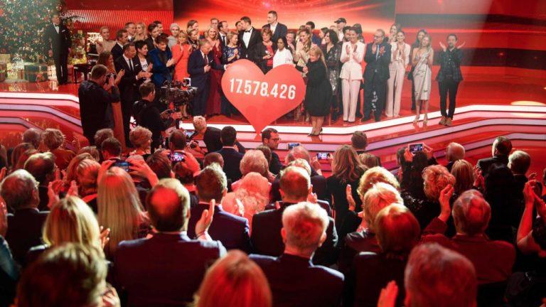 """Die große """"Ein Herz für Kinder""""-Spendengala endete mit einem sensationellen Spendenergebnis: 17 578 426 Euro"""