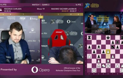 Opera Euro Rapid SF 1: Carlsen & So take the lead - chess24