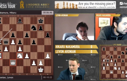 Lindores Abbey Rapid Challenge QFs Day 1: Nakamura battles back to beat Aronian