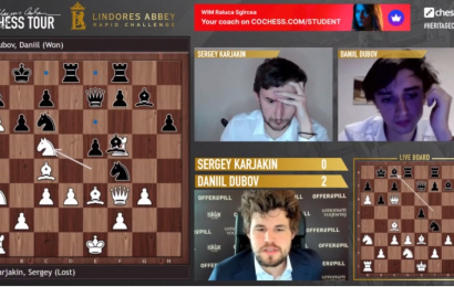 Lindores Abbey Rapid Challenge QFs Day 2: Carlsen & Dubov score thumping wins
