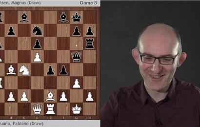 AlphaZero on Carlsen-Caruana Games 1-8