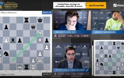 Opera Euro Rapid Day 2: Carlsen shocks Nakamura - chess24