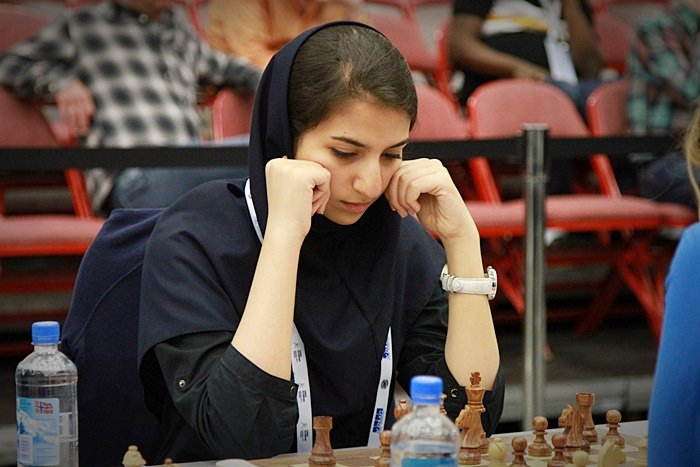 Khademalsharieh Sarasadat has 3/3 and has helped Iran to maintain a perfect match score