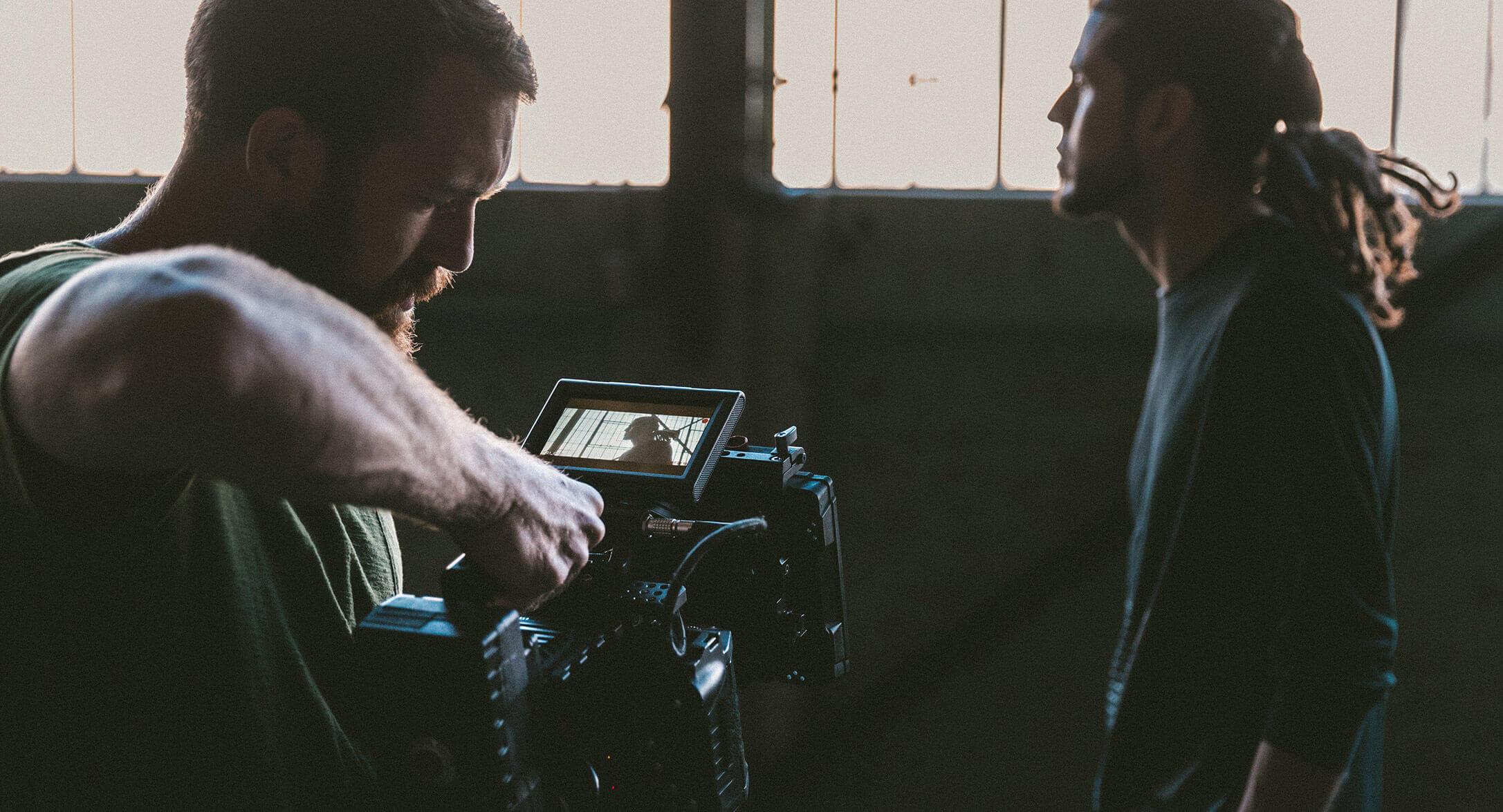 werbung versicherung kamera filmdreh