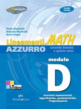 Lineamenti.math AZZURRO Modulo D