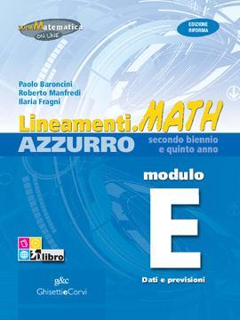 Lineamenti.math AZZURRO Modulo E