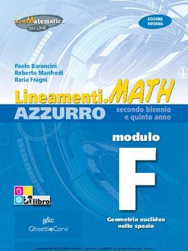 Lineamenti.math AZZURRO Modulo F