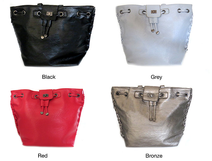 2-in-1 Women's Leather Bag
