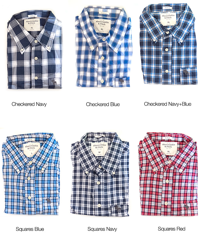 Abercrombie & Fitch Men's Poplin Shirt