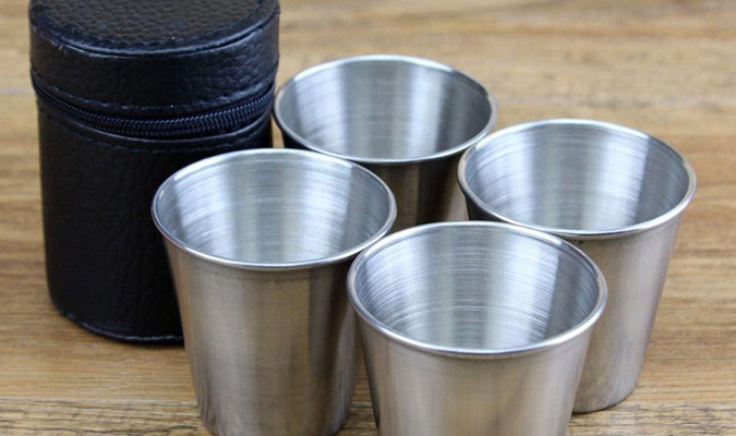 4-Piece Stainless Steel Cups Set