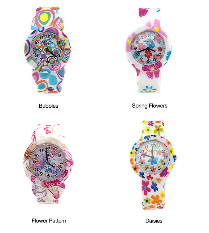 Floral Rubber Watches