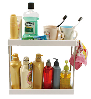 2-Shelf Storage Rack
