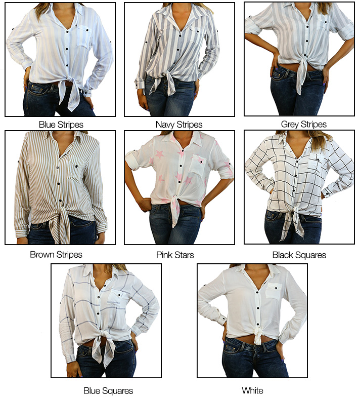 CODE 101 Front Knot Shirt