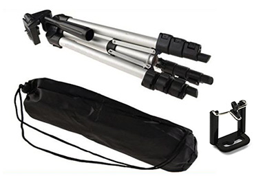 Lightweight Tripod with Mobile Phones Mount