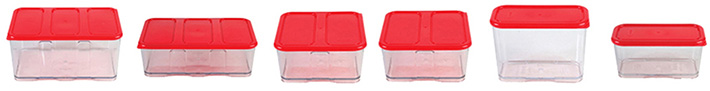 6-Piece Plastic Container Set