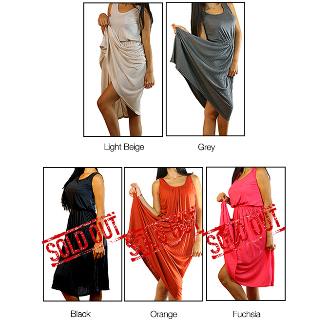 CODE101 Casual Flare Pleated Dress