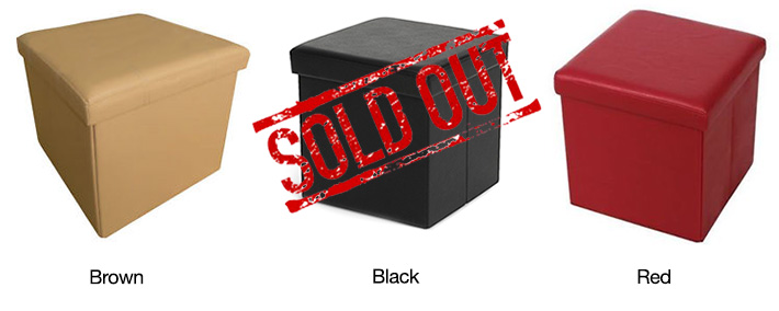 Leather Collapsible Stool Box