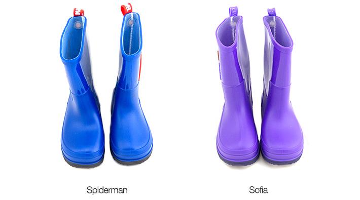 Spiderman / Sofia Kids Rain Boots