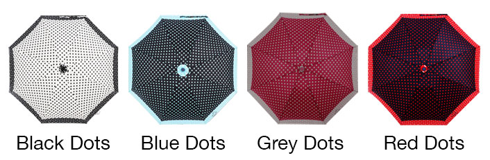 dotted compact umbrella