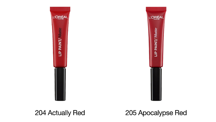 red matte lip paint L'Oreal