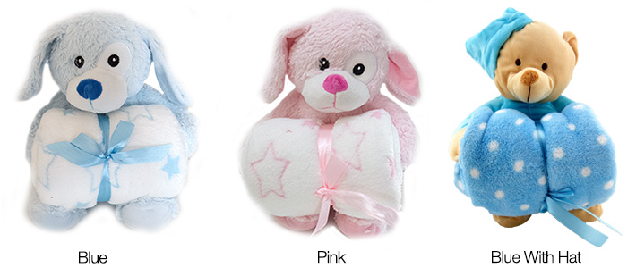 Plush Teddy with Blanket