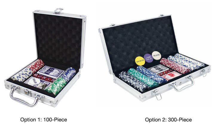 poker set with shots