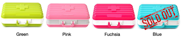 Suitcase Storage Pill Box