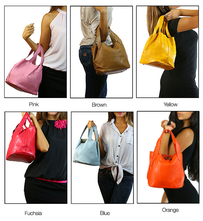 Leather color Handbags