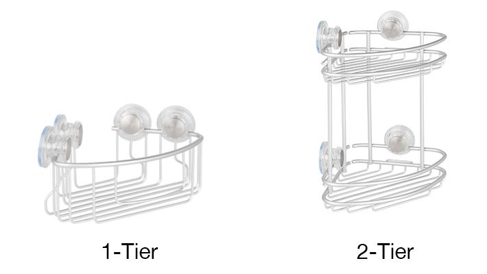 Silver InterDesign Shower Corner Basket