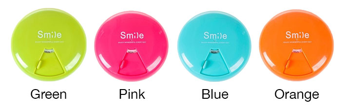 smile rounded pill box