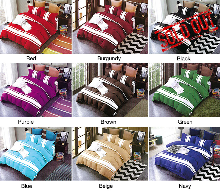 4-Piece Colorful Double Bed Set