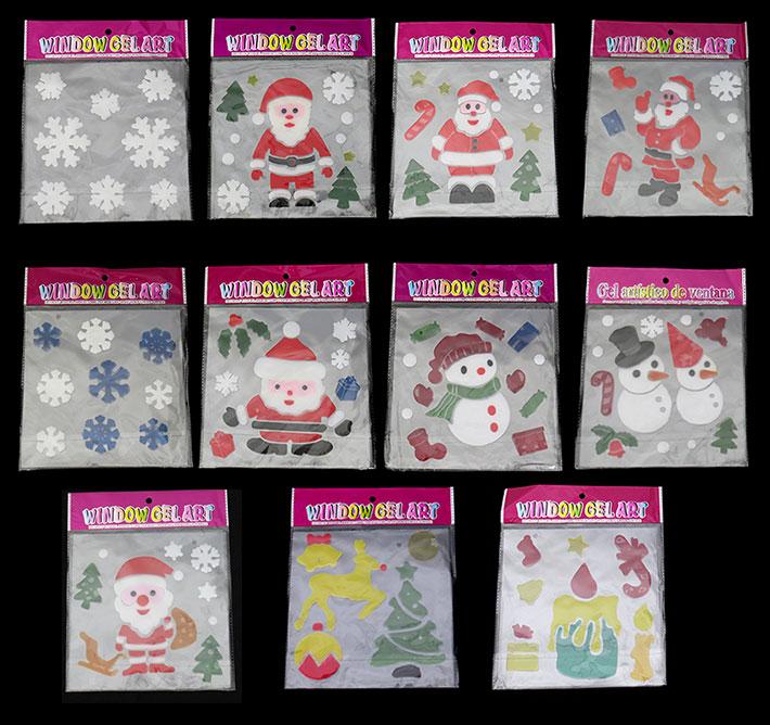 Christmas Window Gel Stickers
