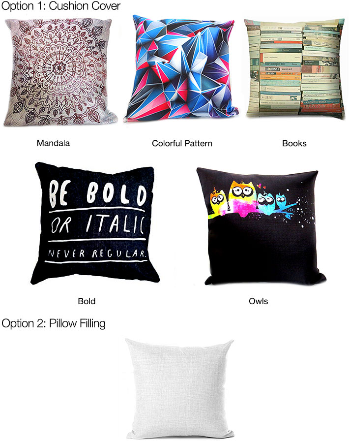 Cushion Covers with Filling