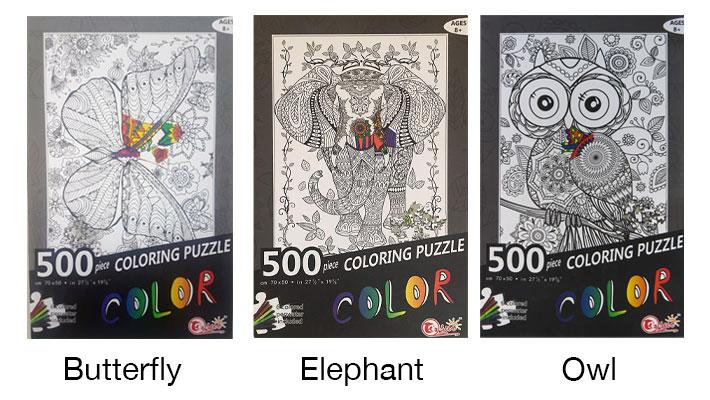 500 pcs coloring puzzle