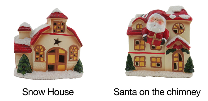 ceramic Christmas house with lights