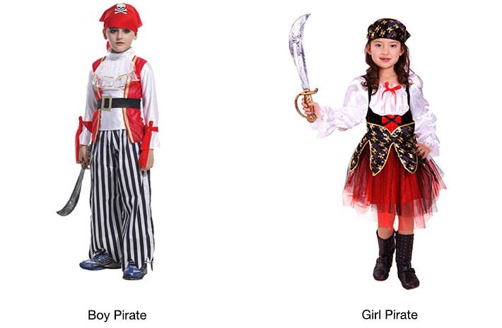 Caribbean Pirate Kids Costumes