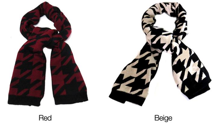 Elegant Women's Knitted Scarf
