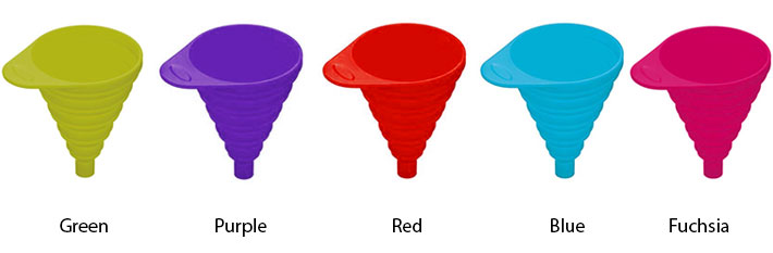 Colourworks Silicone Collapsible Funnels