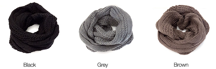 Infinity Knitted Neck Scarf