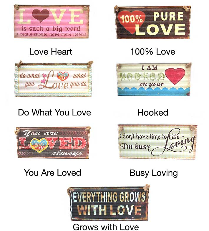 Love Quotes Metal Posters
