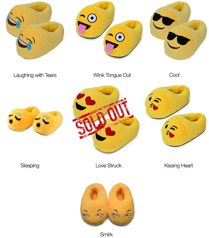 Closed Back Emoji Emoji Slippers
