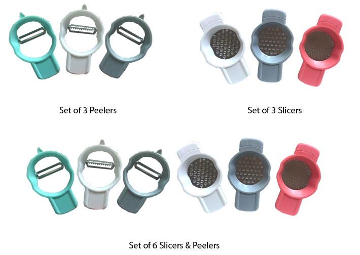 Set of 3 Slicers / Peelers
