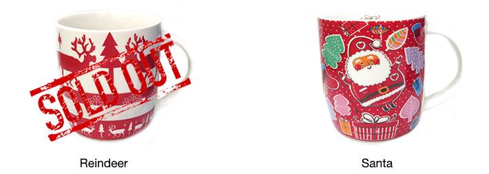 Santa / Reindeer Christmas Mugs
