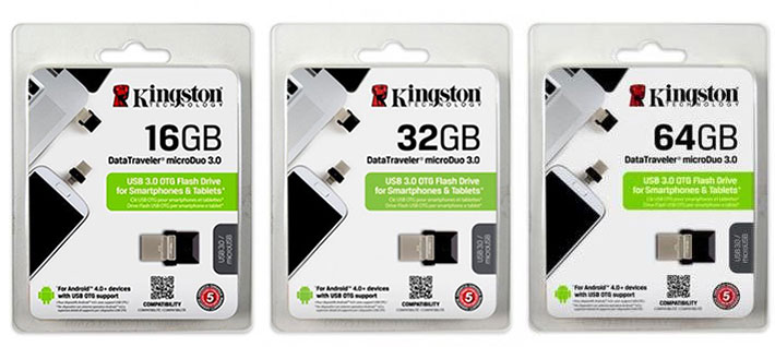 Kingston DataTraveler microDuo 3.0 USB Flash Drive