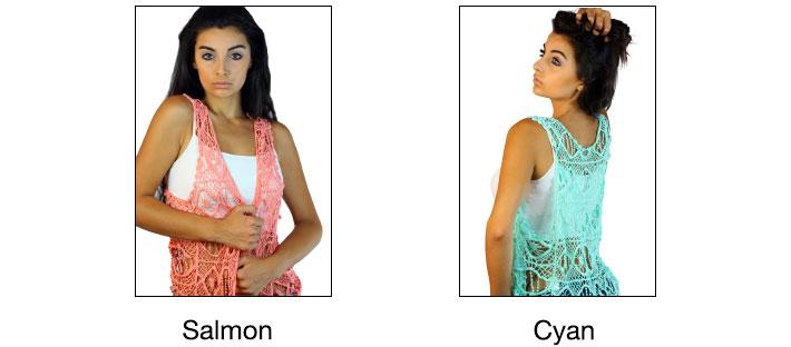 CODE101 Boho Chic Knit Crochet Vest