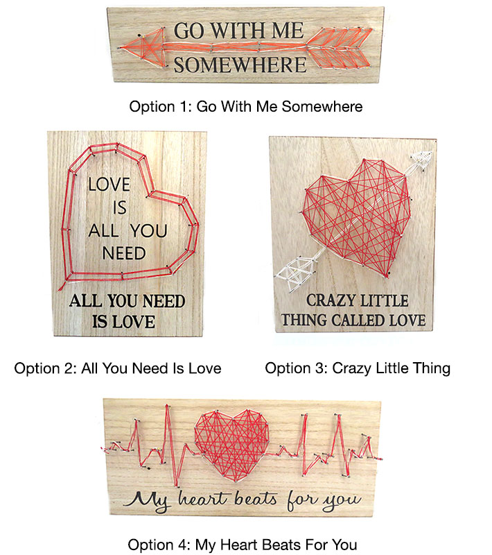 LED Valentine's Wooden Signs