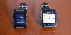 Pebble and Sony smart watches