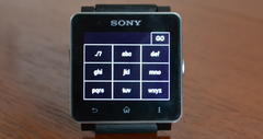 Sony smart watch browser text input